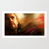 thor Art Prints featuring Thor by Kate Dunn