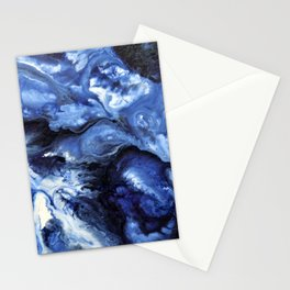 Swirling Blue Waters II - Painting Stationery Cards
