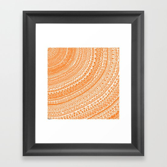 Orange Pulse o3. Framed Art Print