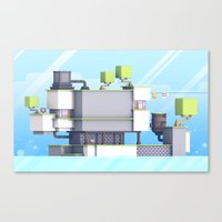 fez Canvas Prints featuring FEZ (Group Zine) by Timothy J. Reynolds