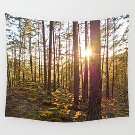 Evening in the forest Wall Tapestry