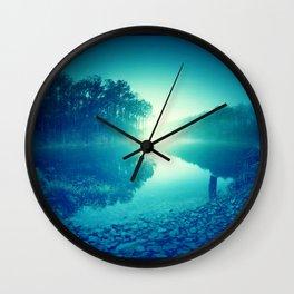 Bluestone Lake Morning Wall Clock