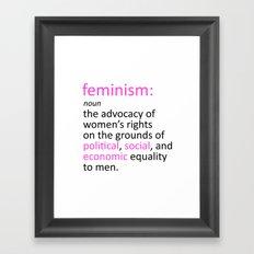 Feminism Defined Framed Art Print