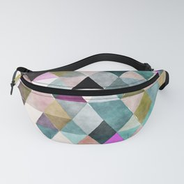 Abstract colorful watercolor geometrical triangles Fanny Pack