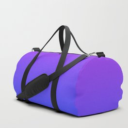 Neon Blue and Bright Neon Purpel Ombré Shade Color Fade Duffle Bag