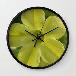 Pale Yellow Flower Wall Clock