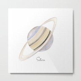 Saturn planet Metal Print
