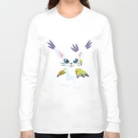 digimon Long Sleeve T-shirts featuring DIGIMON - Gatomon by Daniel Bevis