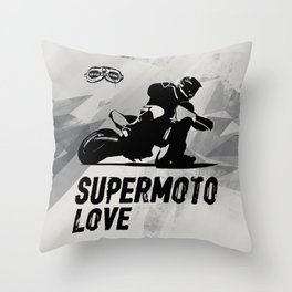 Supermoto Love Throw Pillow