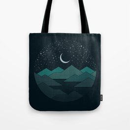 Between The Mountains And The Stars Tote Bag