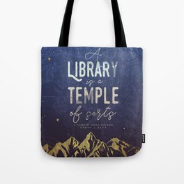 Library Temple Tote Bag