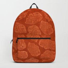 Miquiztli - Aztec Terra Cotta Print Backpack