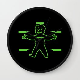 Vault Boy Health Screen Wall Clock
