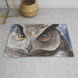 "The Owl - ""Watch-me!"" - Animal - by LiliFlore Rug"