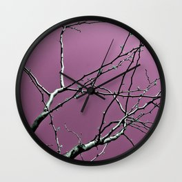 Reaching Violet Wall Clock