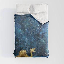 Golden Sea Monster, Loch Ness, Nessy Dragon Dinosaur Comforters