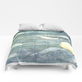 Moonlit Sandhill Cranes  Comforters