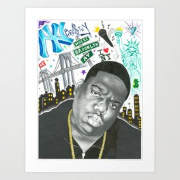 King Of New York Art Print