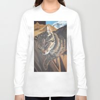 leo Long Sleeve T-shirts featuring Leo by Lark Nouveau Studio