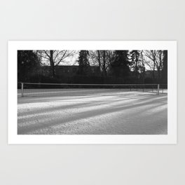 Tennis on snow 2 Art Print