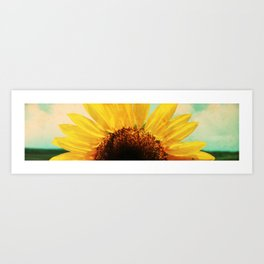 The Energy of Sunflower Art Print