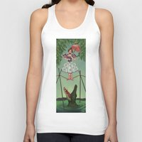 haunted mansion Tank Tops featuring Disquieting Metamorphosis - Haunted Mansion by Patricia Cervantes