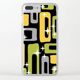 Retro Mid Century Modern Abstract Pattern 617 Clear iPhone Case