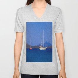 Sailing Ship Art Unisex V-Neck