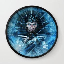 Blue Pharao Wall Clock