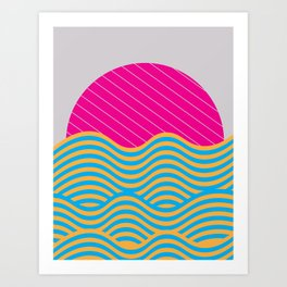 .Waves Art Print