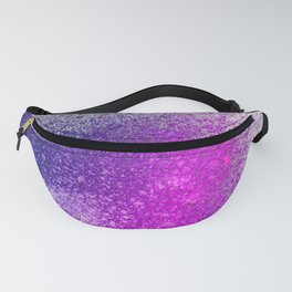 Hot Pink and Purple Paint Splatter Fanny Pack