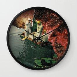 Lakes on Mercury Wall Clock