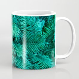 Fern Photography | Emerald | Turquoise |Tropical Leaves | Art Print Coffee Mug