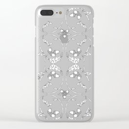 Acorns and ladybugs pattern white Clear iPhone Case