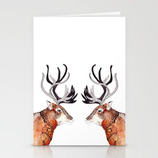 Reindeer  Stationery Cards