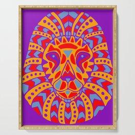 Aztec Lion Design #8 Serving Tray