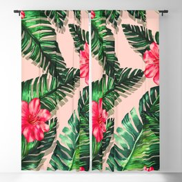 Aroma Hibiscus of Greek islands Blackout Curtain