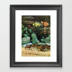 Staldmanden Framed Art Print