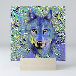 WOLF IN THE GARDEN Mini Art Print