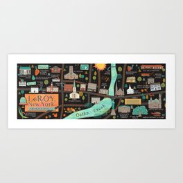 LeRoy, NY, Birthplace of Jell-O Art Print