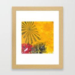SUNBURST YELLOW Framed Art Print