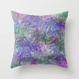 Color Leaf Explosion Abstract Throw Pillow