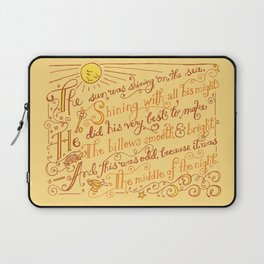 The Walrus and the Carpenter, Stanza 1 Laptop Sleeve