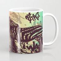 zebra Mugs featuring ZEBRA by Nechifor Ionut