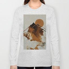 abstract mountains, rustic orange sunrise Long Sleeve T-shirt