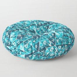 Blackthorn Family Motto Mosaic Floor Pillow