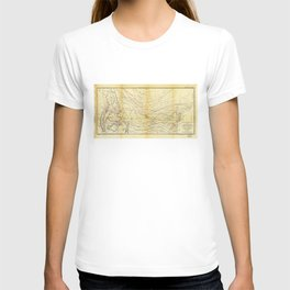 Isothermal Chart North of the 36th Parallel between the Atlantic & Pacific Oceans (1859) T-shirt