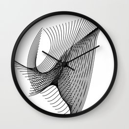"""""""Script Collection"""" - Minimal Letter W Print Wall Clock"""