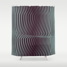 OpArt WaveLines 1 Shower Curtain