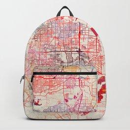 Grand Prairie map Texas painting Backpack